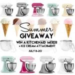 KitchenAid Mixer + Ice Cream Maker Giveaway