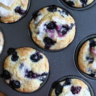 Jumbo Blueberry Muffins - delicious and easy muffins that are perfect to feed a hungry family in the mornings!