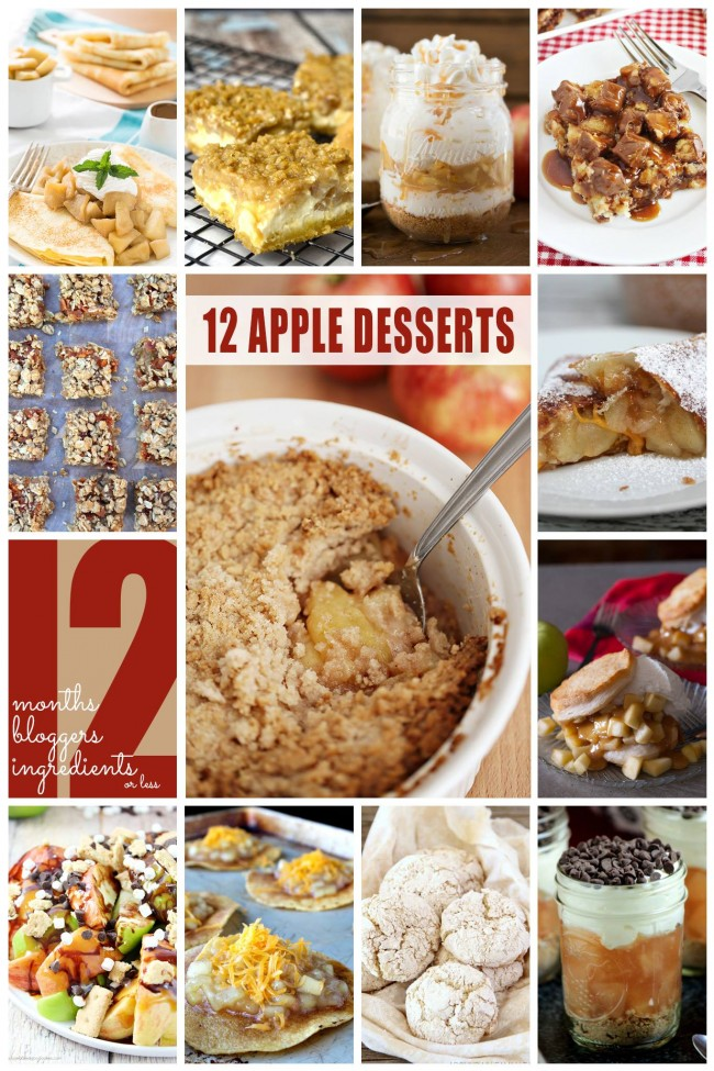 Delicious Apple Desserts! Perfect for fall!