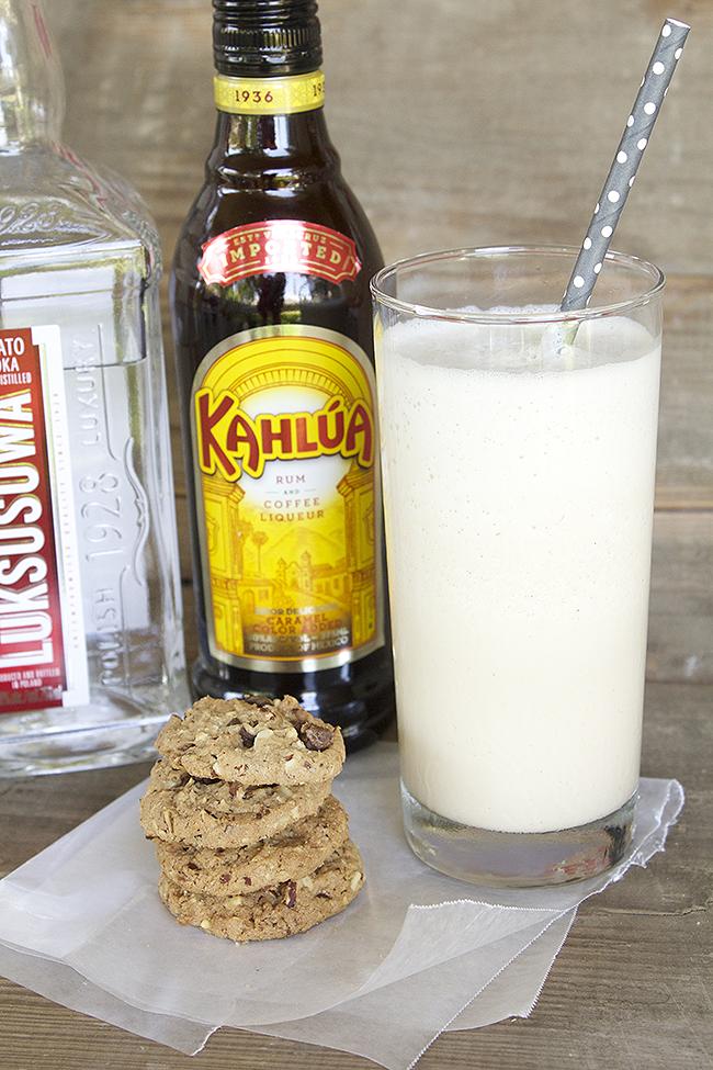 Boozy Coffee Milkshake - a scrumptious frozen treat combining coffee, kahlua, vodka and ice cream!