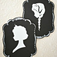 Create EASY Frozen Silhouettes with the Cricut Explore!