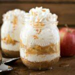 No Bake Caramel Apple Cheesecake