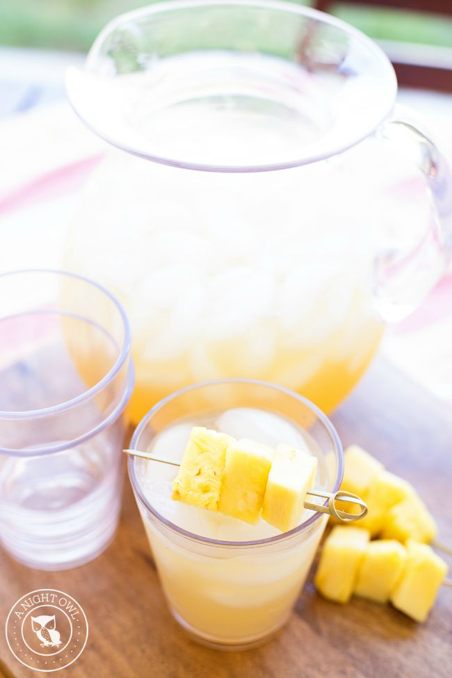 party is adults-only, simply leave your pitcher of Pineapple Rum Punch ...