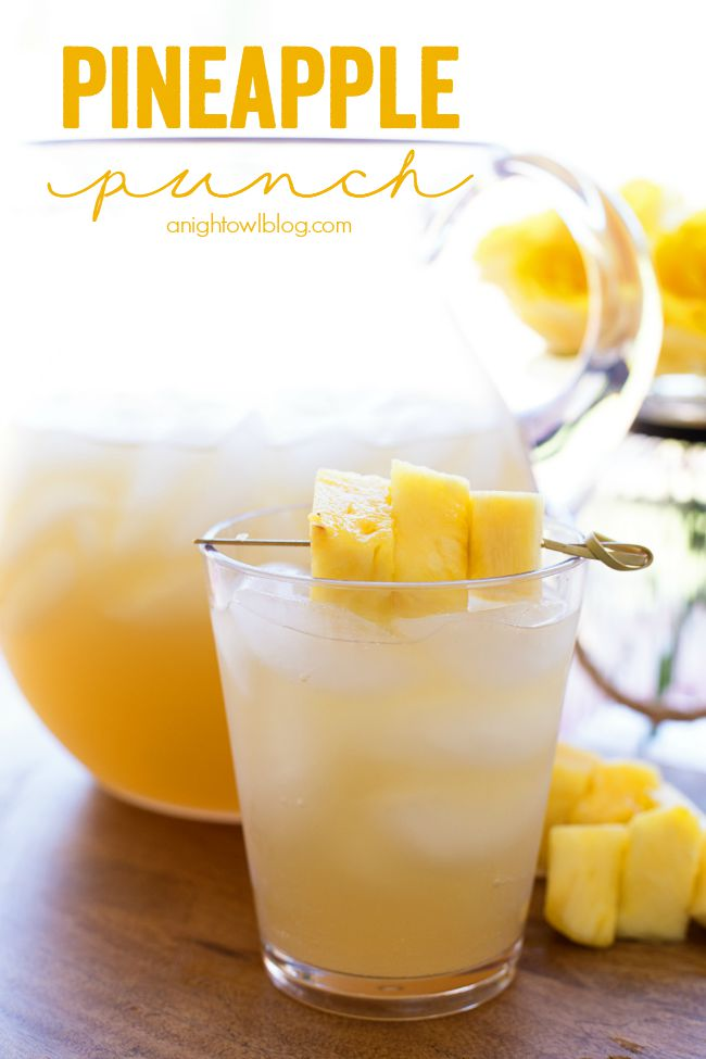 Pineapple Punch - a delicious combination of tropical flavors in one amazing and easy to make drink!