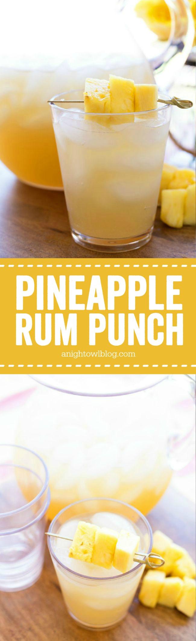 pineapple rum punch | a night owl blog