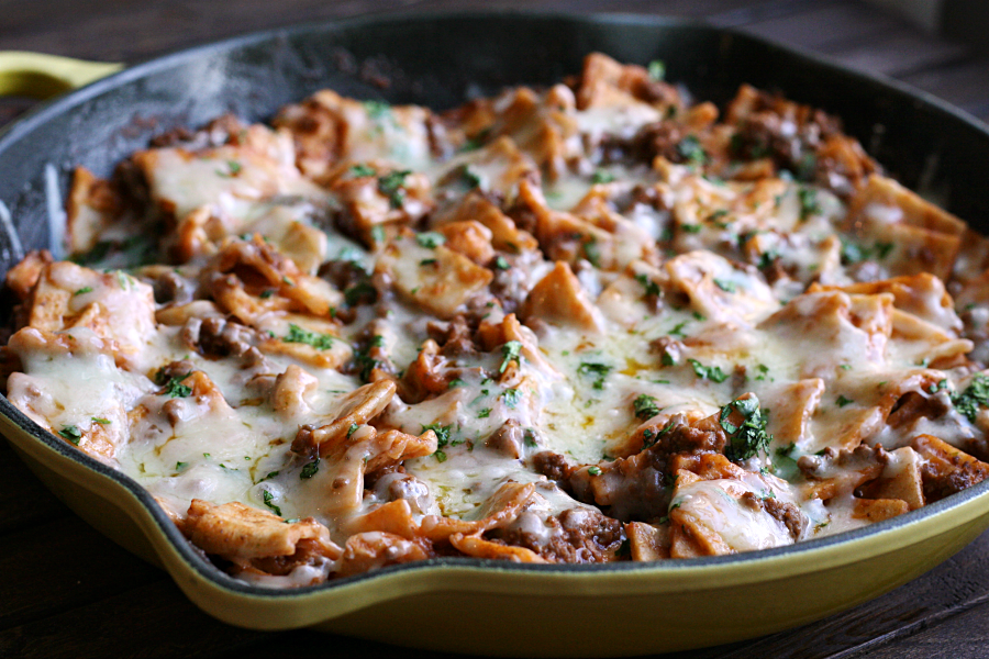 One Pan Beef Taco Skillet | A Night Owl Blog