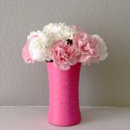 DIY Vintage Beaded Vase