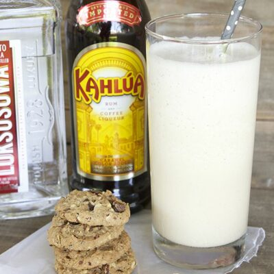 Boozy Coffee Milkshake - a scrumptious frozen treat combining coffee, kahlua, vodka and ice cream!