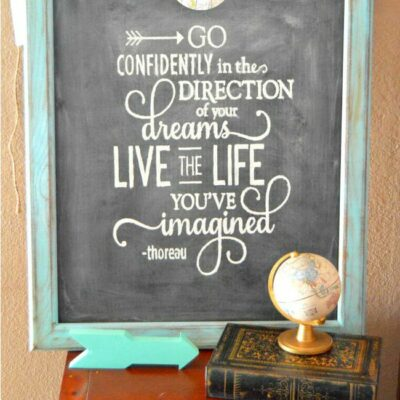 Not a chalkboard artist? Fake it with this fun and Easy Chalk Art Hack!