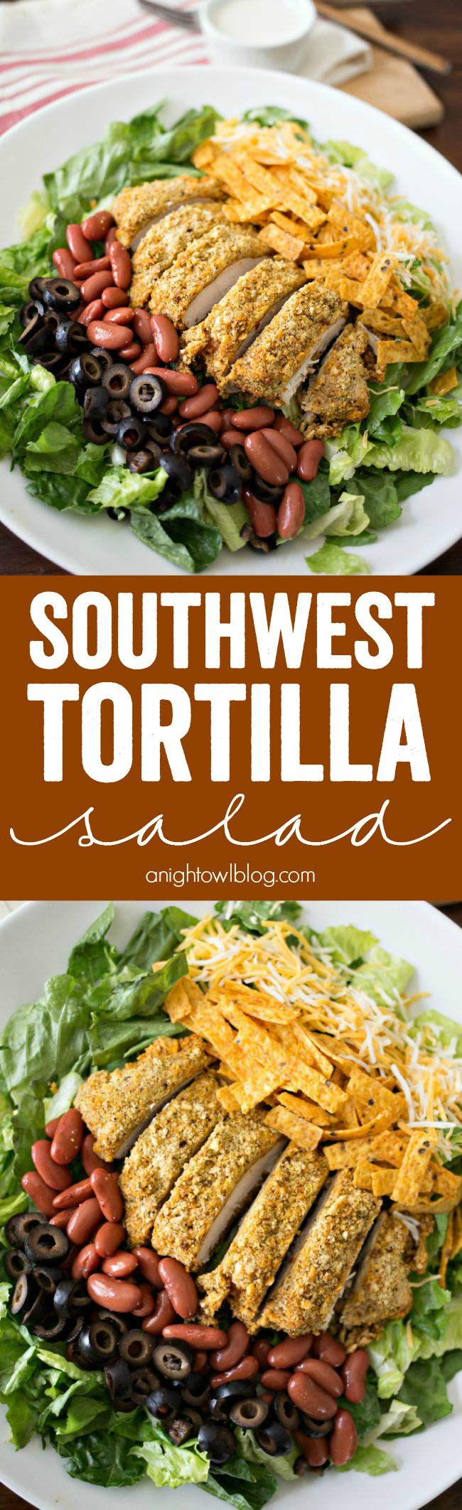 Southwest Tortilla Salad - a delicious, easy and filling salad you can make at home!