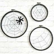 Spooky Spider Web Hoops