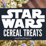 Make these delicious and easy Star Wars Cereal Treats for your kiddos on #ForceFriday or any day of the year!