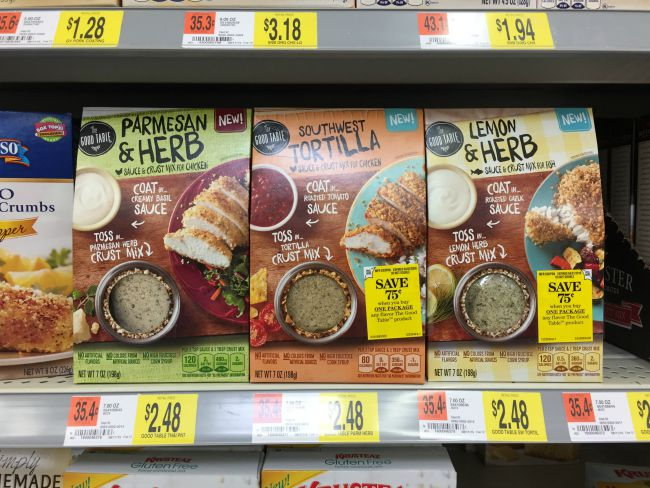 Find The Good Table at Walmart with the bread crumbs!