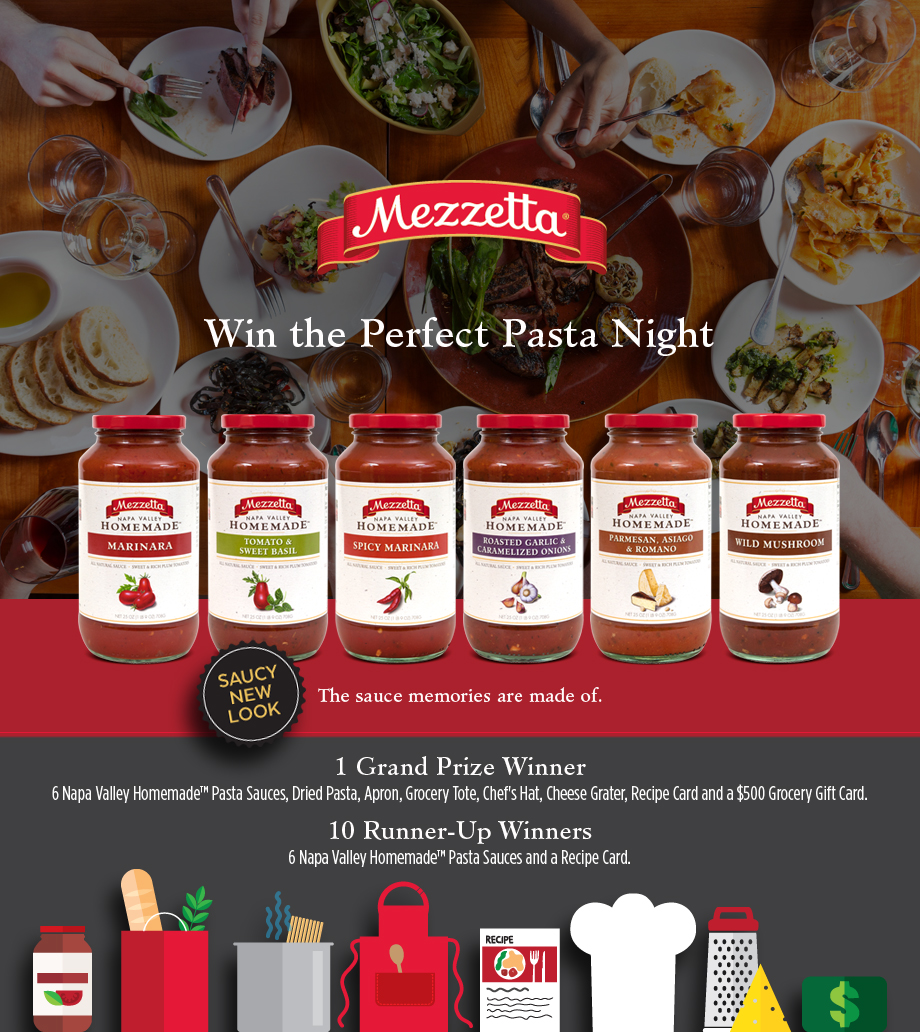 Win a Perfect Pasta Night from Mezzetta!
