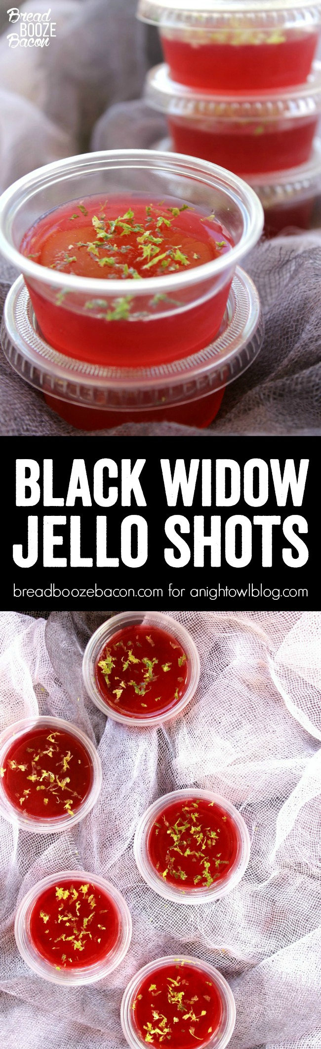 Black Widow Jello Shots are an easy to make margarita shot with fresh flavors that'll ensnare your senses!