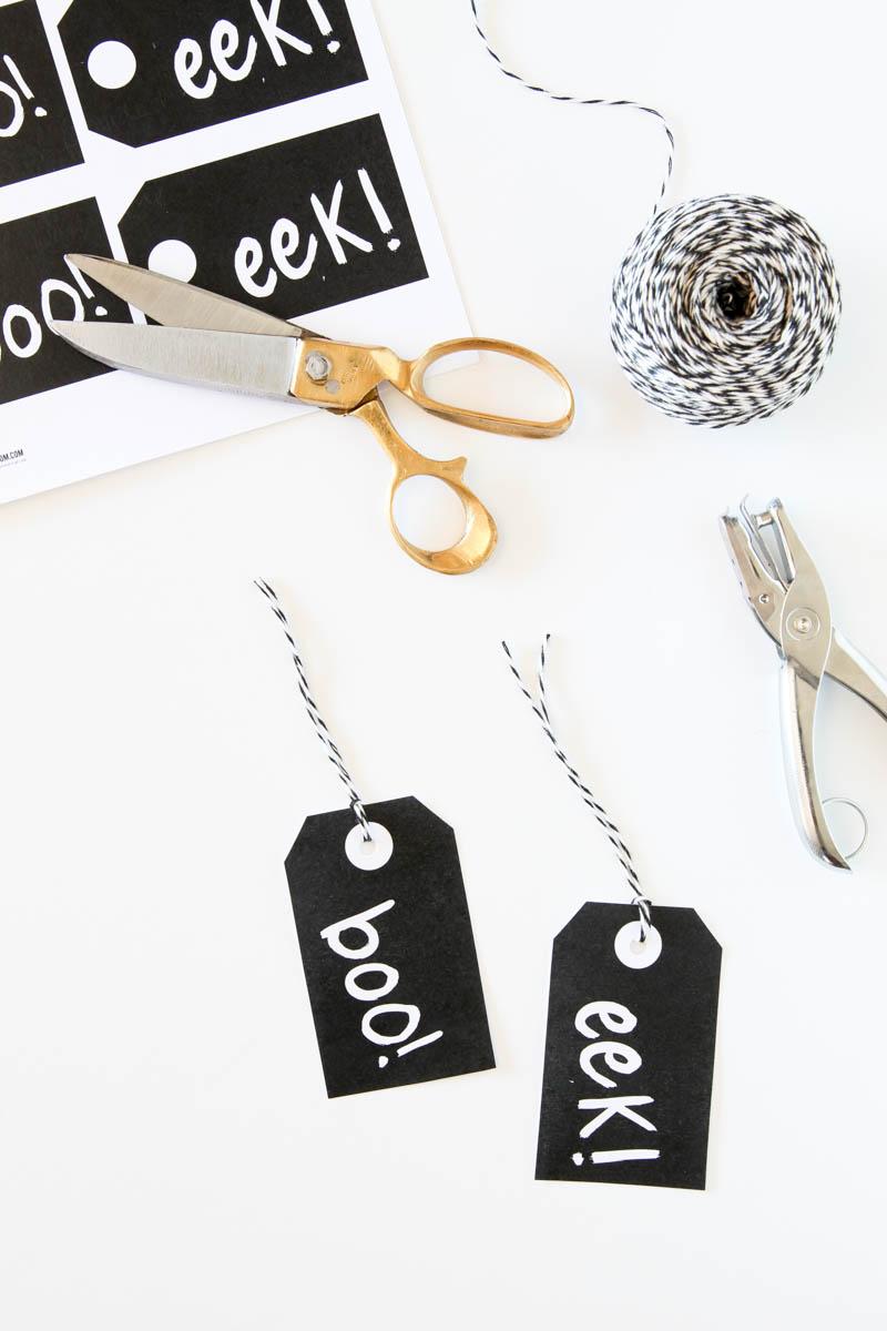Boo Eek Halloween Gift Tags | A Night Owl Blog