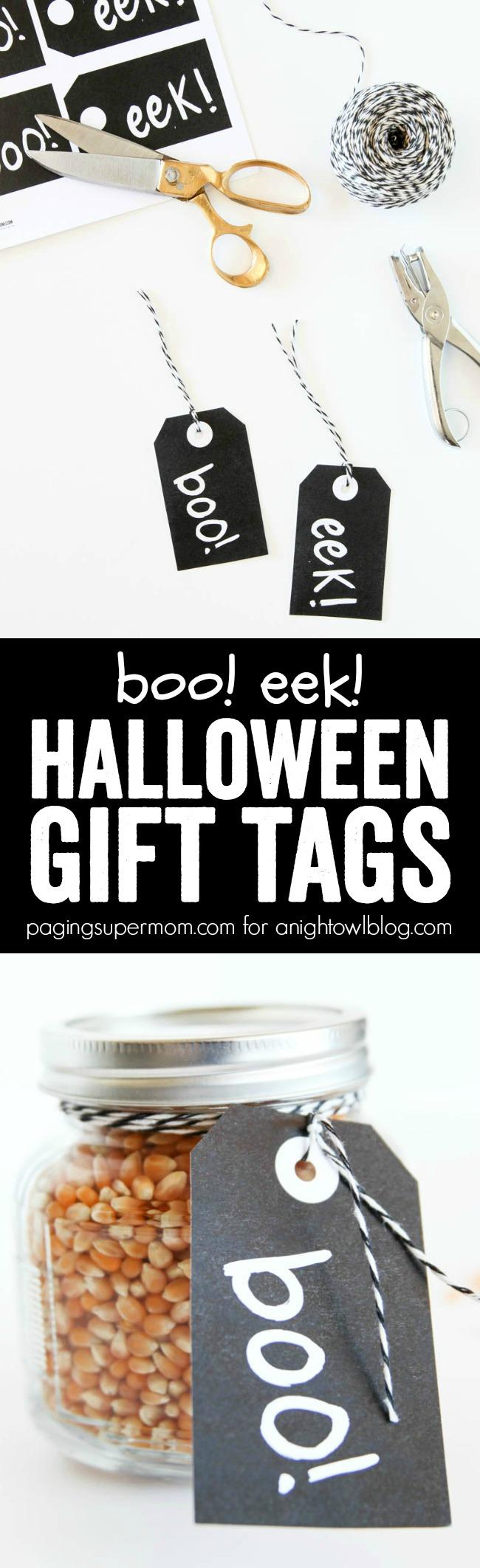these boo eek gift halloween tags make a fun last minute gift idea for halloween - Halloween Gift Tag