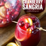 This Easy Cranberry Sangria is delicious and the perfect holiday cocktail!