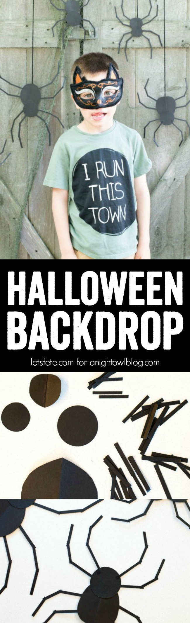 This Halloween, create a DIY Halloween Photo Backdrop for less than $5 to capture all those fun costumes and moments!