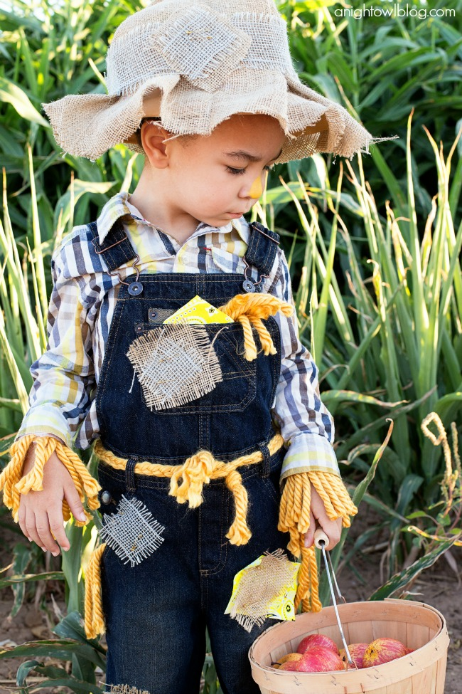 Easy no sew scarecrow costume a night owl blog this easy no sew scarecrow costume is a breeze to make and is just oh so solutioingenieria Choice Image