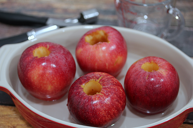 Brown sugar, butter and three spices make these easy baked apples perfect for cooler fall weather!