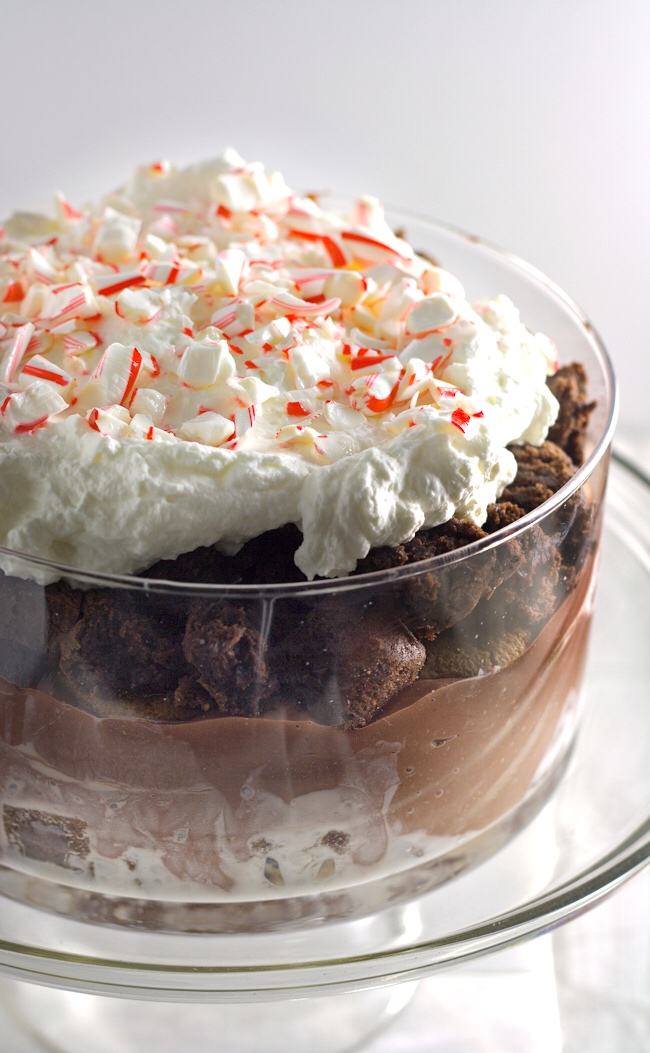 Christmas Brownie Trifle - all the flavors of the holidays in one easy to assemble and delicious dessert!