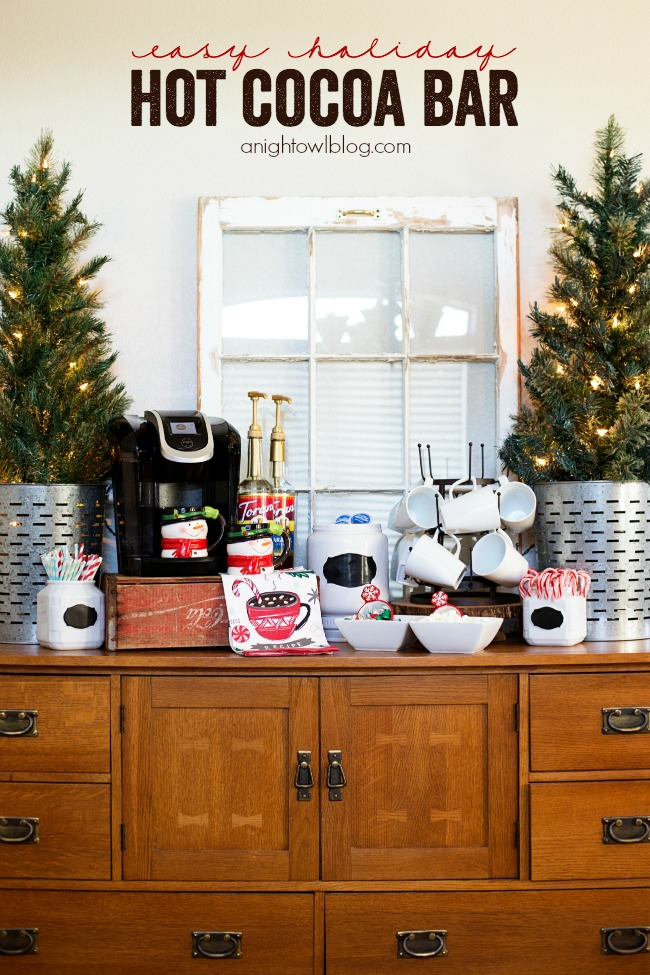 Set up an Easy Hot Cocoa Bar this holiday season for effortless entertaining!