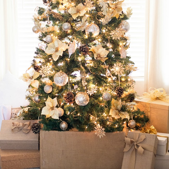 gorgeous gold christmas tree a night owl blog - Gold Christmas Tree