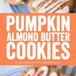 Pumpkin Almond Butter Cookies - light and chewy pumpkin and almond butter cookies with cream cheese frosting.