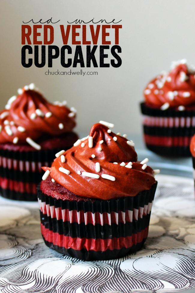 Red Wine Red Velvet Cupcakes A Night Owl Blog