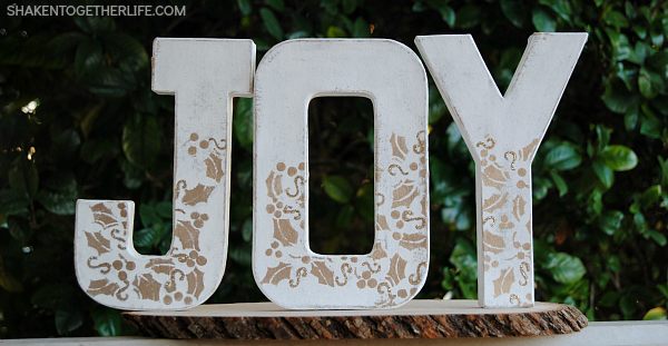 White & Gold JOY Letters from Shaken Together
