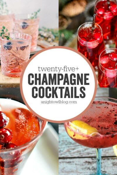 So many great Champagne Cocktails, perfect for New Year's!