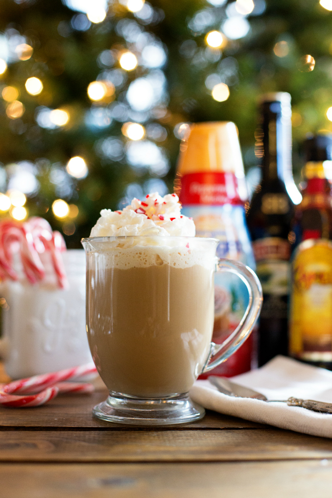 Whip up a little Christmas Coffee this year - a delicious blend of coffee, peppermint, Baileys and Kahlua! Make those spirits bright!