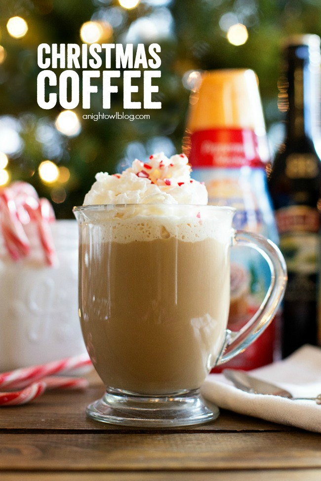 Whip up a little Christmas Coffee this year - a delicious spiked blend of coffee and peppermint. Make those spirits bright!
