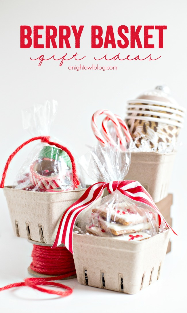 these easy berry basket gift ideas are so fun and a breeze to put together