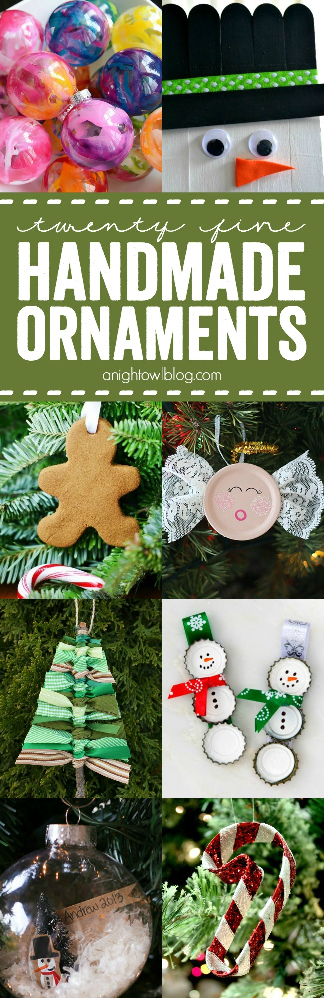 So many cute Handmade Christmas Ornaments! Fun ideas to make with the kids this year!