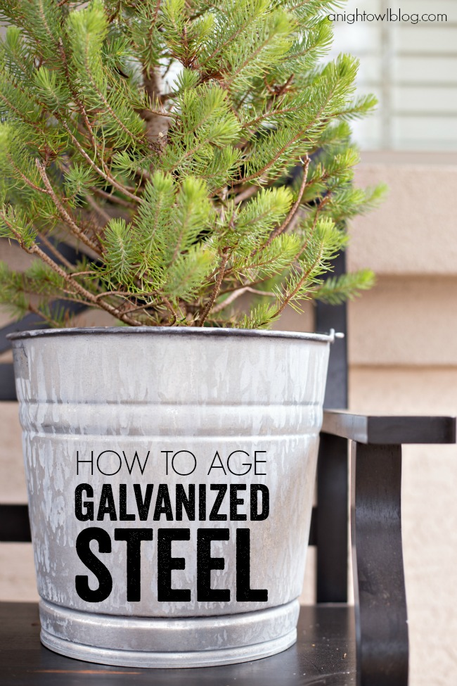 How to age galvanized steel for that worn, vintage look for a fraction of the cost!