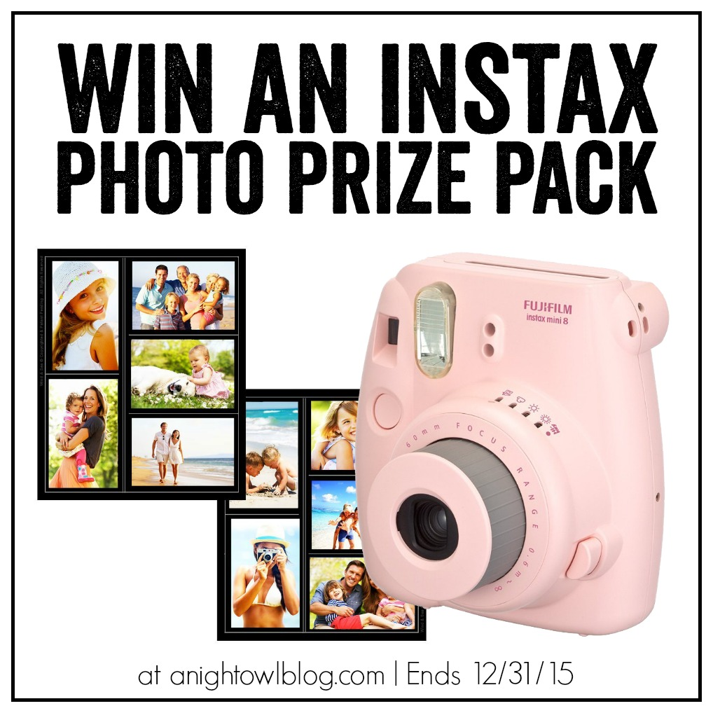Enter to WIN an Instax Photo Prize Pack at anightowlblog.com!