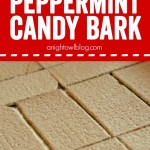 White Chocolate Peppermint Candy Bark - an easy and delicious bark with a delicious graham cracker crunch and creamy peppermint white chocolate! Perfect for holiday guests or given as a gift!