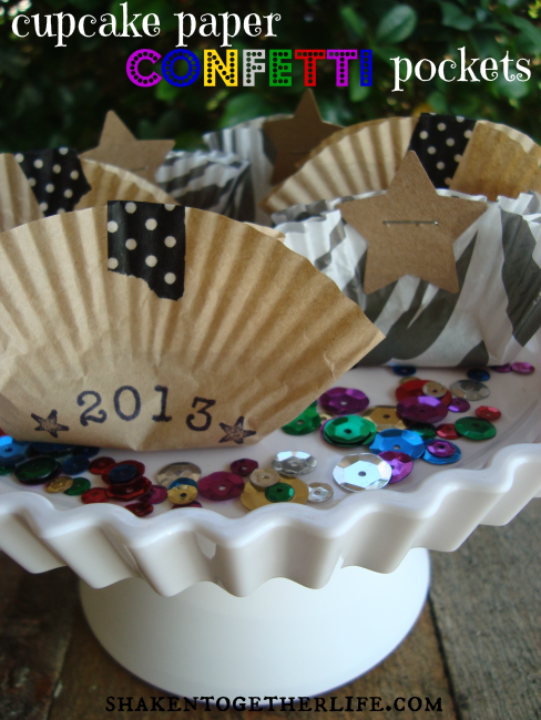 Cupcake Paper Confetti Pockets from Shaken Together