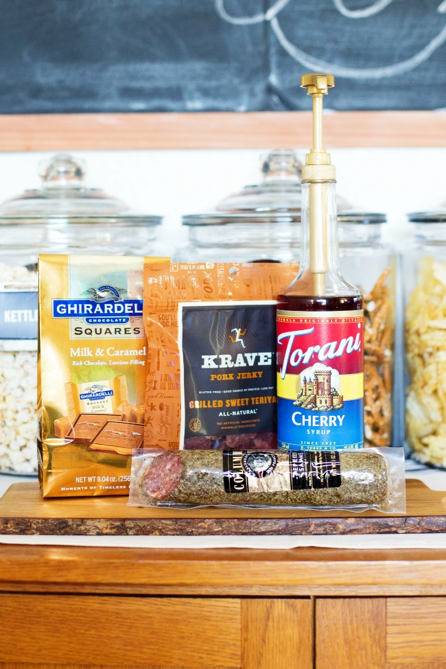 World Market has all the snacks you need for game day: Ghirardelli Chocolate, Krave Jerky, Columbus Meats and Torani Syrups are just a few of the essentials you can find!