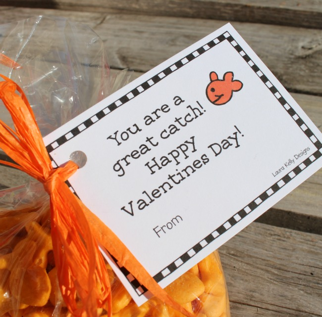 photograph about Goldfish Valentine Printable titled Goldfish Crackers Valentines A Evening Owl Blog site