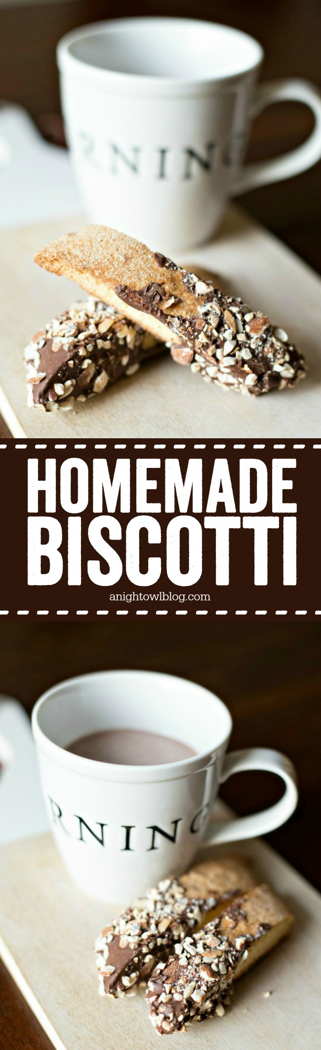 Perfect with your morning coffee, this Homemade Biscotti is easy to make and delicious!