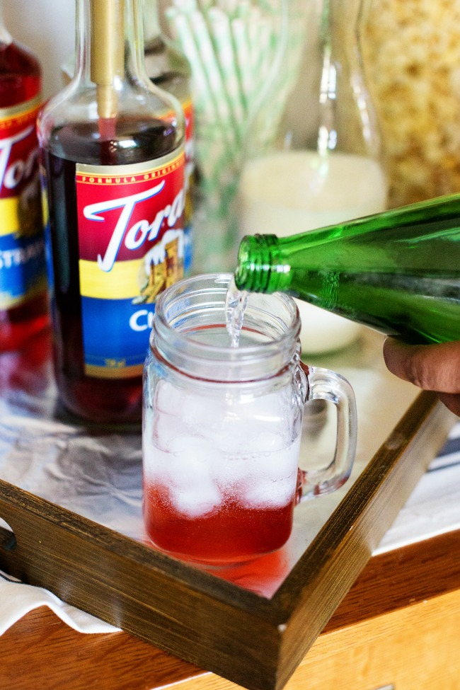 For your next party, put together a Torani Italian Soda Bar! Delicious and fun for guests!