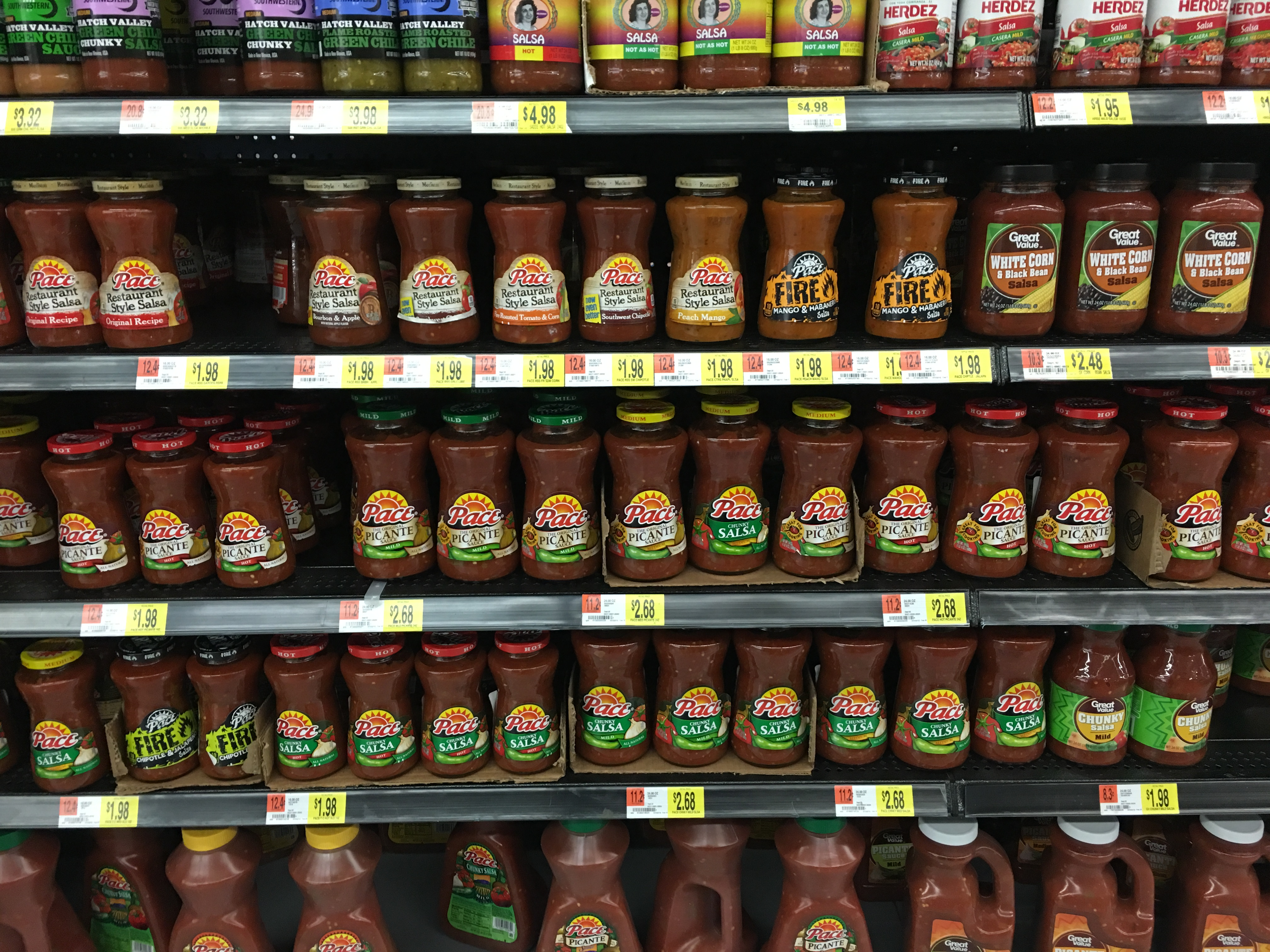 Salsa aisle in the US