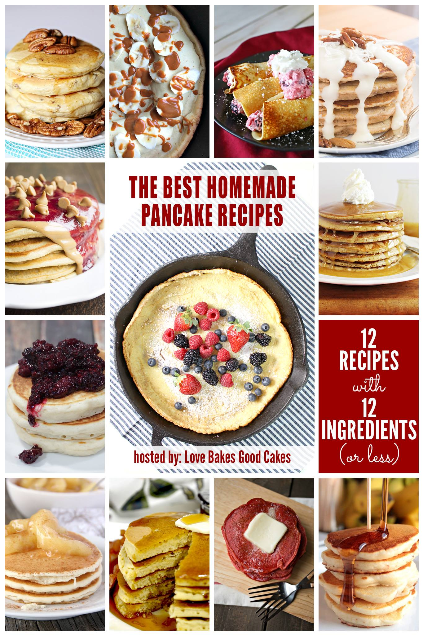 12 Homemade Pancake Recipes to try!