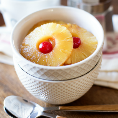 Eat cake for breakfast! This Pineapple Upside Down Oatmeal is a fun way to add some fun to your morning routine!