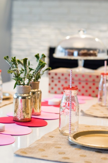This Valentines DIY Table Runner is a simple way to bring Valentine's to your house, or a kid's party.
