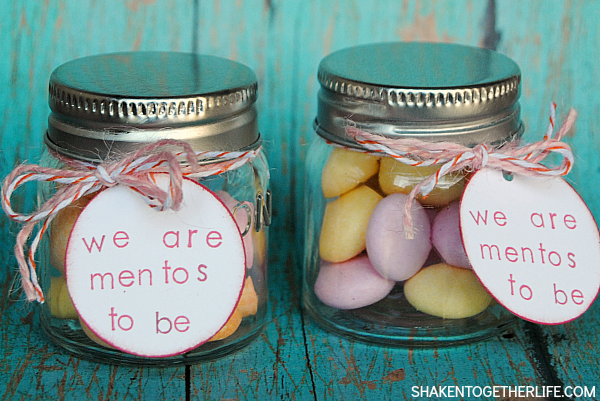 We are Mentos to Be - Valentine Mason Jar Gift from Shaken Together