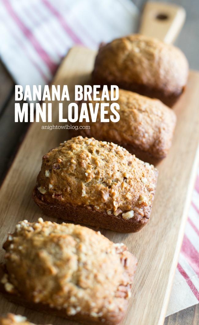 Banana Bread Mini Loaves | A Night Owl Blog